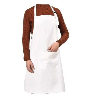 $8.99 • Buy White Blank Polyester Adjustable Chef Apron Crafts Grill BBQ Smoker Baking Cook