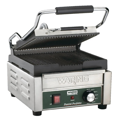 Waring Commercial Single Panini Grill WPG150K 292Wx394Dx235Hmm • 455£