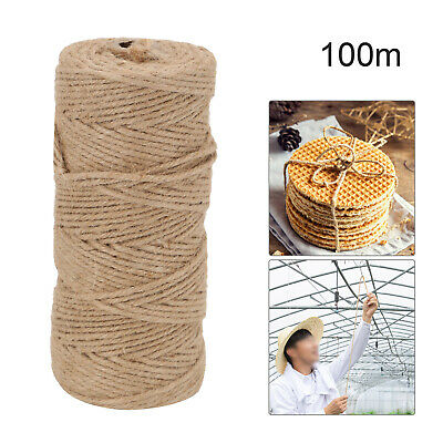 £4.09 • Buy 100m 3 Ply Natural Brown Soft JUTE TWINE Sisal String Rustic Cord Shabby