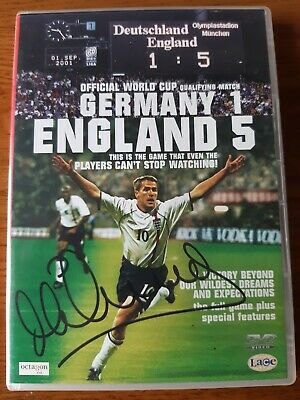 £54.99 • Buy England 5 Germany 1 Dvd Hand Signed By  Michael Owen  Liverpool Real Madrid Fc