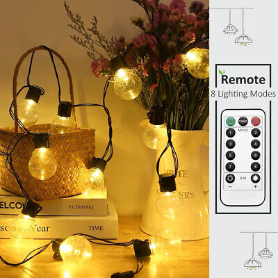 LED Ball String Fairy Lights Main Powered Outdoor Party Christmas Garden Wedding • 8.99£