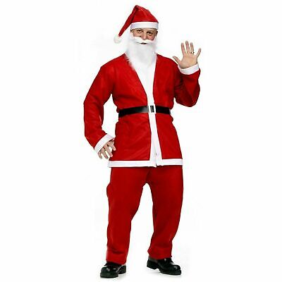 £7.49 • Buy SANTA CLAUS COSTUME Father Christmas Suit Complete Fancy Dress Outfit Adult Hat