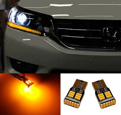 $8.98 • Buy Amber/Yellow LED Parking Light Bulbs For Toyota Prius SUPER BRIGHT Error Free