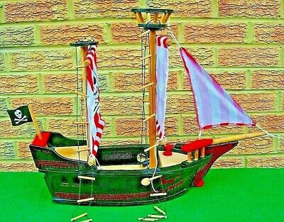 £15 • Buy ELC Wooden Pirate Ship Galleon Without Figures