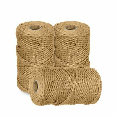 £5.29 • Buy 100m-1000m 3 Ply Natural Brown Soft Jute Twine Sisal String Rustic Shabby Cord