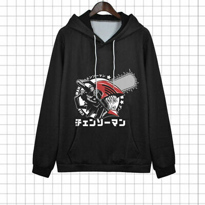£19.54 • Buy Anime Chainsaw Man Cosplay Pullover Hooded Jacket Unisex Coat Long Sleeve Tops