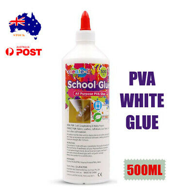 AU11.95 • Buy All Purpose PVA Glue White DIY Craft Slime Scrapbooking Washable Adhesive 500ml