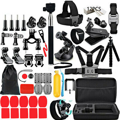 AU39.99 • Buy Compatible GoPro Hero 9 8 7 6 5 4 Accessories Pack Case Chest Head Floating Mono
