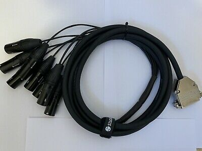 25 Pin D Sub To Male XLR 8 Way Multicore Cable 3m • 25£