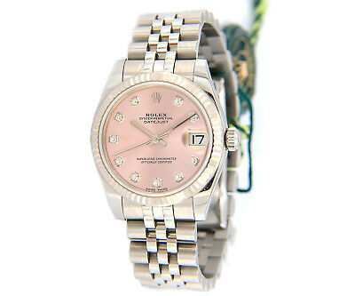 $ CDN11353.57 • Buy 2018 Rolex Datejust 178274, Mid-Size, 31mm, Pink Dial W/ Box & Papers