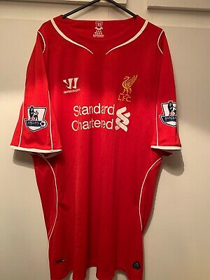 £18.99 • Buy *XL* 2014/15 LIVERPOOL Home Warrior Football Shirt Patches