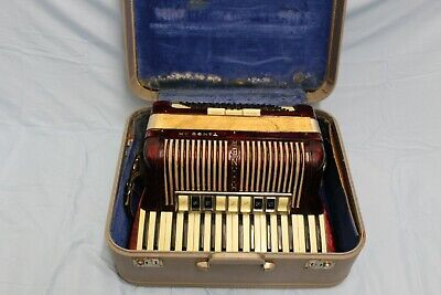 $299 • Buy Vintage Hohner Tango II M 96 Bass Accordion W/ Case AS IS