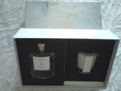 Perfumed Diffuser Gift Set Bahoma London Black Fig 100ml Reeds & Candle 350g • 19.99£
