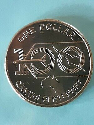 AU4.95 • Buy 2020 100 Years Of Quantas UNC Australian $1 One Dollar Coin From Mint Bag.