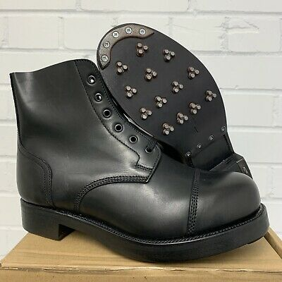 £75 • Buy BLACK LEATHER AMMO AMMUNITION DRESS BOOTS - Sizes , British Army Issue BRAND NEW