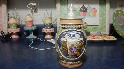 $ CDN54.44 • Buy 1983 Old Style Corporate Lidded Beer Stein #146 Out Of 500 Awesome Shape