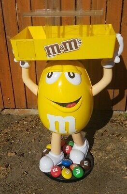 $197 • Buy M&M Yellow Character Store Display With Storage Tray LOCAL Pickup San Diego ONLY