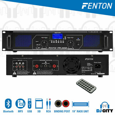 AU139 • Buy 1000W Power Amplifier 2-Channel FPL1000 PA DJ Amp W/ Bluetooth And MP3 Player