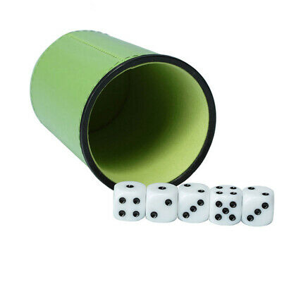 Shaker Game Supplies Dice Cup Professional Bar KTV Lined Party PU Leather Clubs