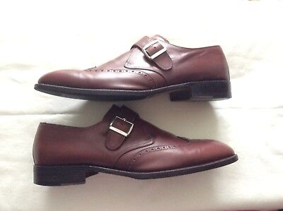 PreOwned MORESCHI (Russell&Bromley)Tan-Brown Brogue Buckle Leather Shoes .Sz:12. • 85£