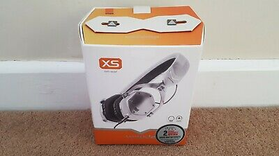 V-MODA XS - On Ear Cliqfold 3D Headphones - White Silver • 99.99£