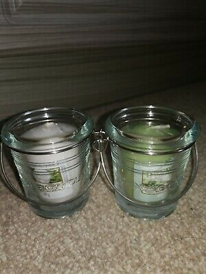 Yankee Candle 2 Bucket Votive Holder And 2 Votive Candles • 10£