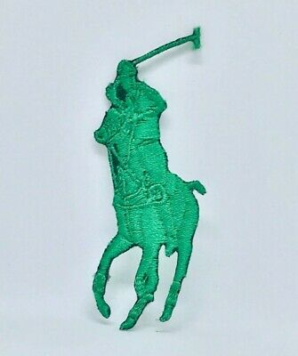 £1.90 • Buy Green HORSE POLO SPORTS BRAND LOGO IRON ON/SEW ON EMBROIDERED PATCH BADGE