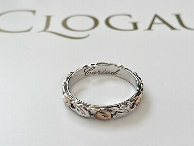 New Clogau Tree Of Life Cariad Ring Sterling Silver Welsh Gold Rose Gold Size O • 85£