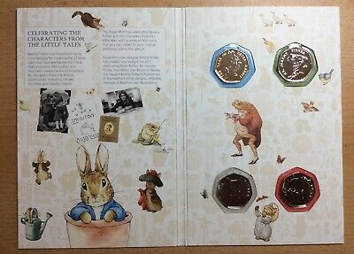 Beatrix Potter 2017 50 Pence Collection In Royal Mint Album • 22.50£