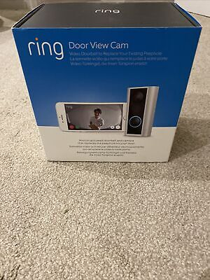 NEW Ring Door View Cam Video Doorbell Replaces Peephole 1080p HD • 75£