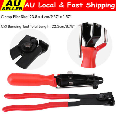 AU26.84 • Buy Cv Joint Boot Clamp Pliers Set Of 2 Car Banding Tool Ear Type Install Kit NEW