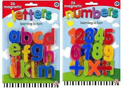 LARGE MAGNETIC Letters Alphabet & Numbers Fridge Magnets Toys Kids Learning ELC • 3.99£
