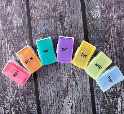 AU14.99 • Buy Weekly 7 Day Pill Box Medicine Storage Tablet Container Deattached Organizer