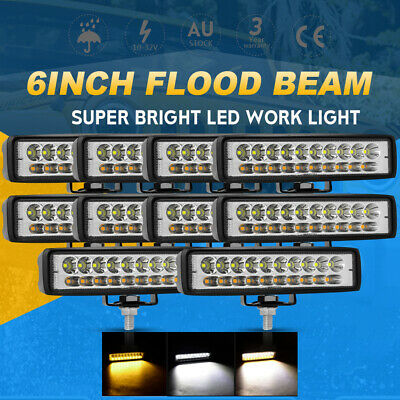 AU79.99 • Buy 10PCS 6 Inch CREE Spot Flood LED Work Light Bar Offroad 4WD Reverse Driving Fog
