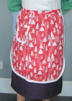 Christmas Red And White Design Half Apron / Pinny • 7.75£