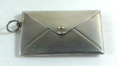 Antique Sterling Silver Double Stamp Case Envelope Fob Ring • 59£