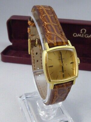 Ladies Omega Hand Wound Watch Gold Filled New Omega Strap & Buckle Boxed Ex Cond • 79.99£