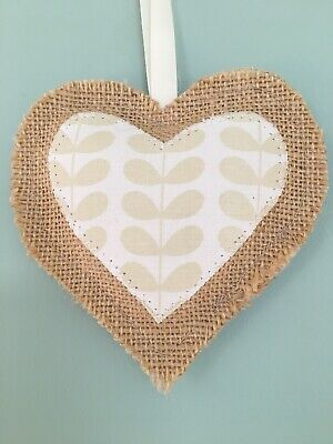Orla Kiely Heart Tiny Stem Decoration Hanging Rustic Cream Natural Neutral • 5.99£