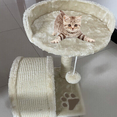 Strong Cat Tower Cat Tree Scratching Post Play House With Condo And Hanging Toy • 21.24£