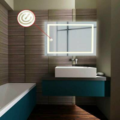 LED Illuminated Bathroom Mirror With Demister Touch Sensor Light Wall Mounted • 84.54£
