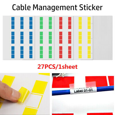 Network Waterproof Cable Labels Fiber Organizers Stickers Identification Tags • 2.46£