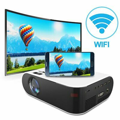 AU167.89 • Buy HD 1080P Wifi Bluetooth Android Movie Projector Home Theatre W/ Projector Screen