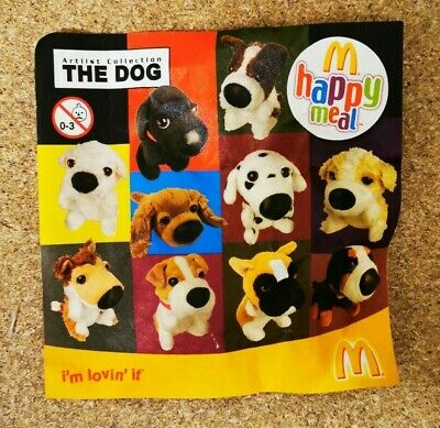 £9.75 • Buy McDonalds Happy Meal Toy 2008 UK The Dog Artlist Collection Plush Toys - Various