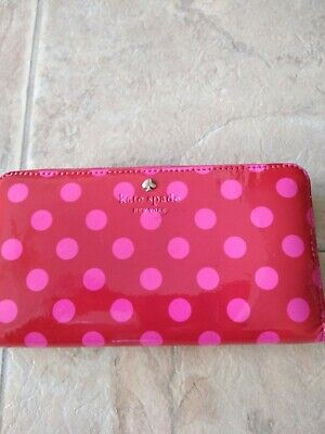 $ CDN26.18 • Buy Kate Spade Red Patent Leather Zip Around Wallet