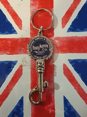 £4.99 • Buy Ford Motor Co. Genuine Parts Classic Truck Rod Double Sided Swivel Clip Keyring