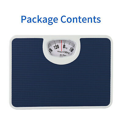 £9.80 • Buy Accurate Mechanical Dial Bathroom Scales Weighing Scale Body Weight Blue 130KG