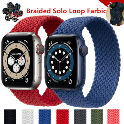 $ CDN8.88 • Buy Nylon Strap For Apple Watch Band 44mm 38mm Solo Loop IWatch Series 6 SE 5 4 3 2