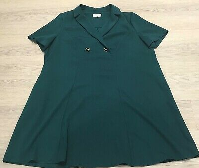 PHASE EIGHT New Label Bottle Green Swing Tunic Dress With Pockets UK 14 Work  • 4.99£