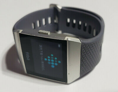$ CDN82.10 • Buy Fitbit Ionic Fitness Smartwatch - Silver LARGE Blue Gray Band NO CHARGER -Refurb