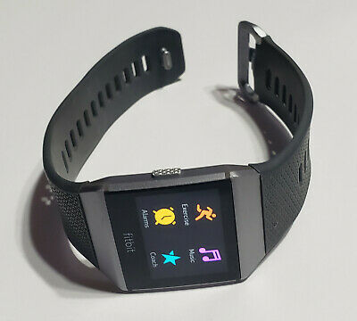 $ CDN80.44 • Buy Fitbit Ionic Fitness Smartwatch LARGE Smoke Gray Charcoal - NO CHARGER - Refurb